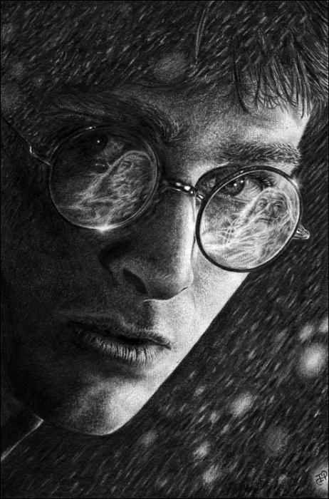 Michael Gambon, Daniel Radcliffe by irena
